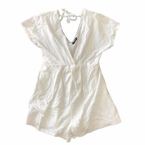 SHEIN white playsuit/ romper Large